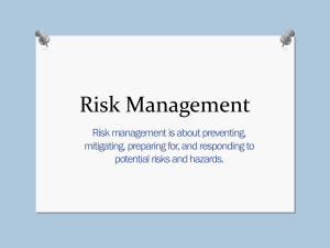 Risk Management - Y