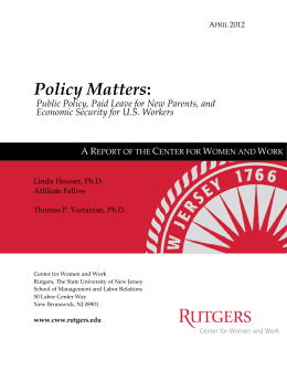 Policy Matters: Public Policy, Paid Leave for New Parents, and