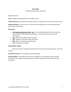 Issue analysis template 2012 12 11.docx ISSUE PAPER [brief