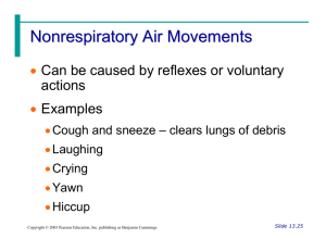 Nonrespiratory Air Movements