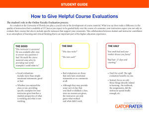 How to Give Helpful Course Evaluations
