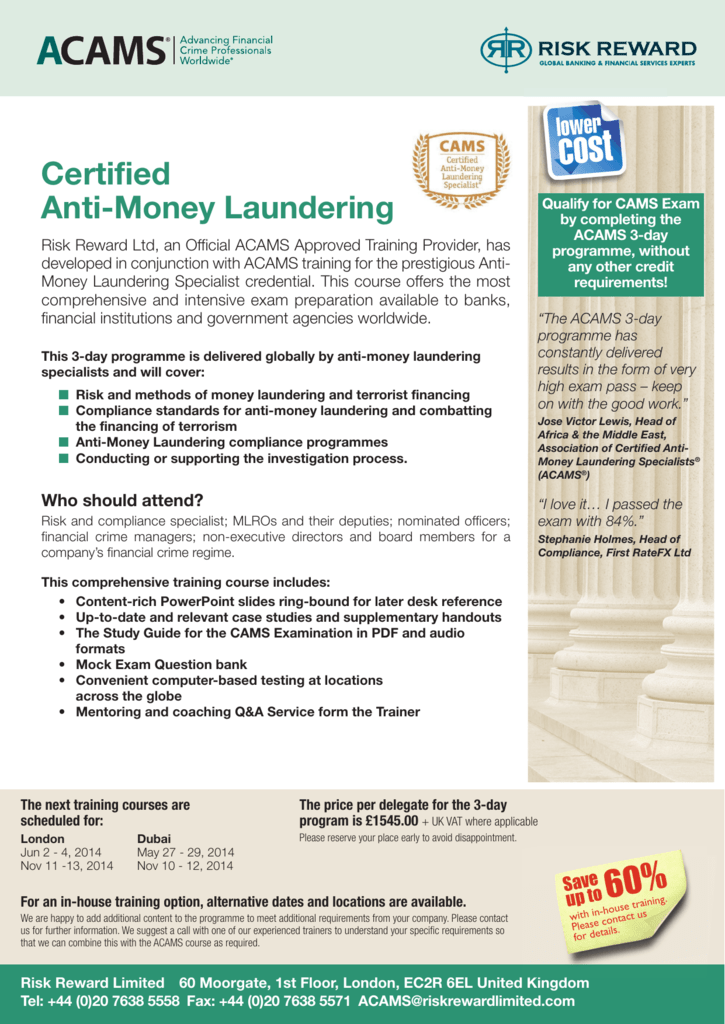 Certified Anti-Money Laundering
