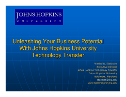 Unleashing Your Business Potential with JHU Tech Transfer