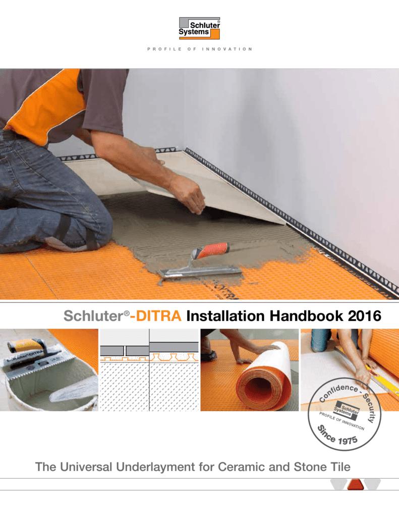 Schluter Ditra Installation Handbook 2016