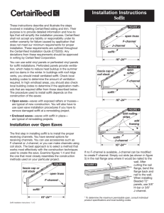 Installation Instructions Soffit