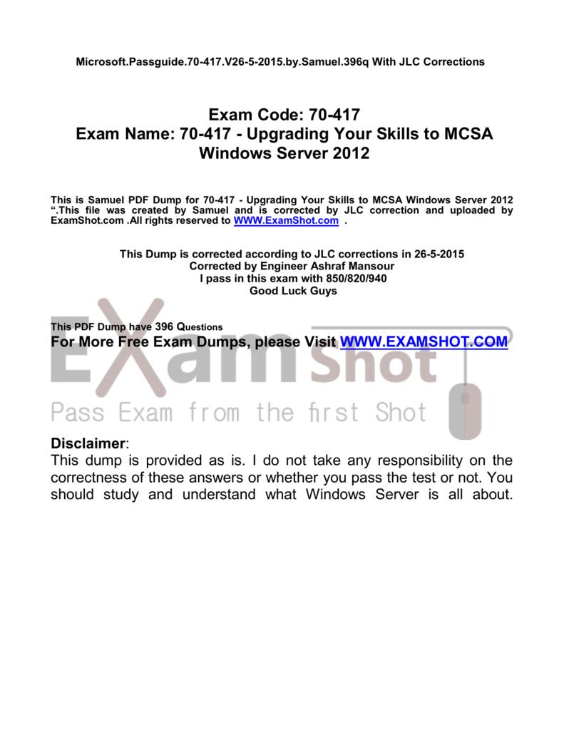 70-417 pdf exam