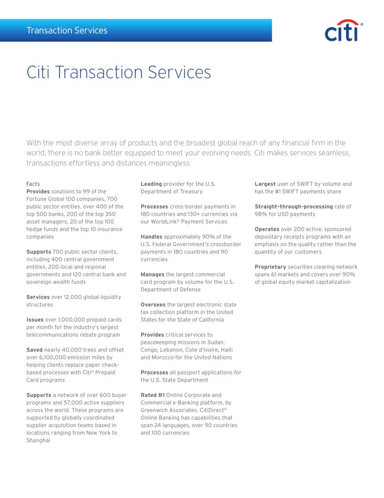 Citi Transaction Services