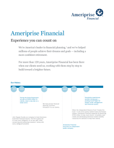 Ameriprise Facts - Ameriprise Financial