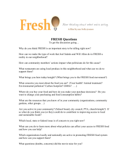 FRESH Questions - FRESH The Movie