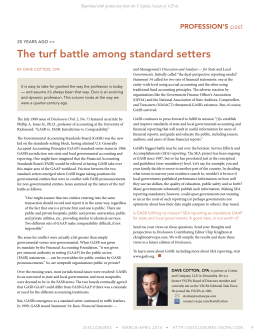 The turf battle among standard setters