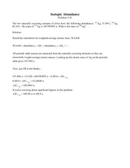 Sch3u0101aoutline isotopic abundance urtaz Images