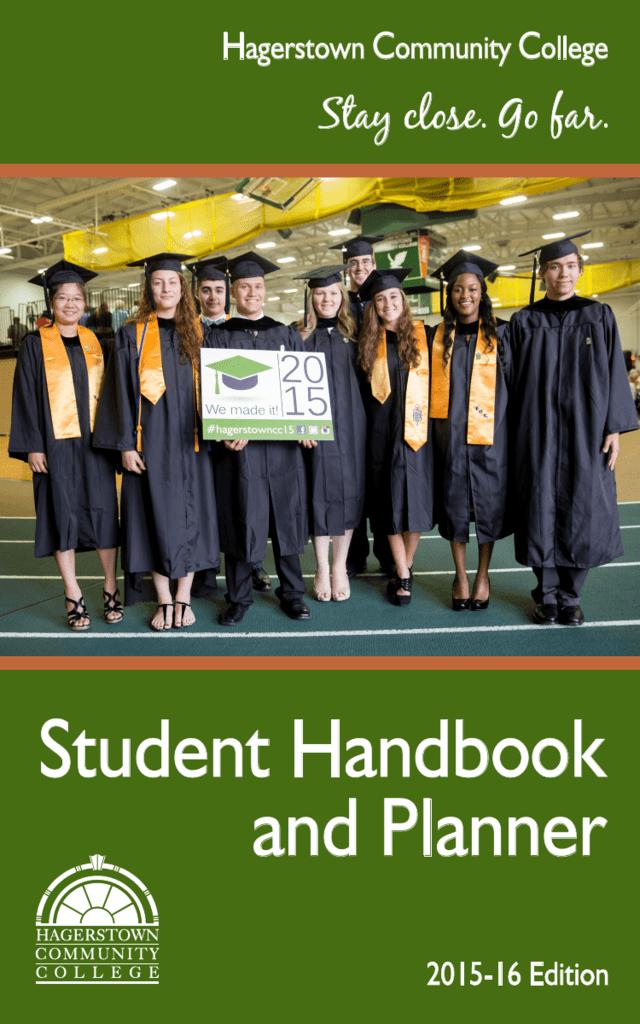 Student Handbook And Planner Hagerstown Community College