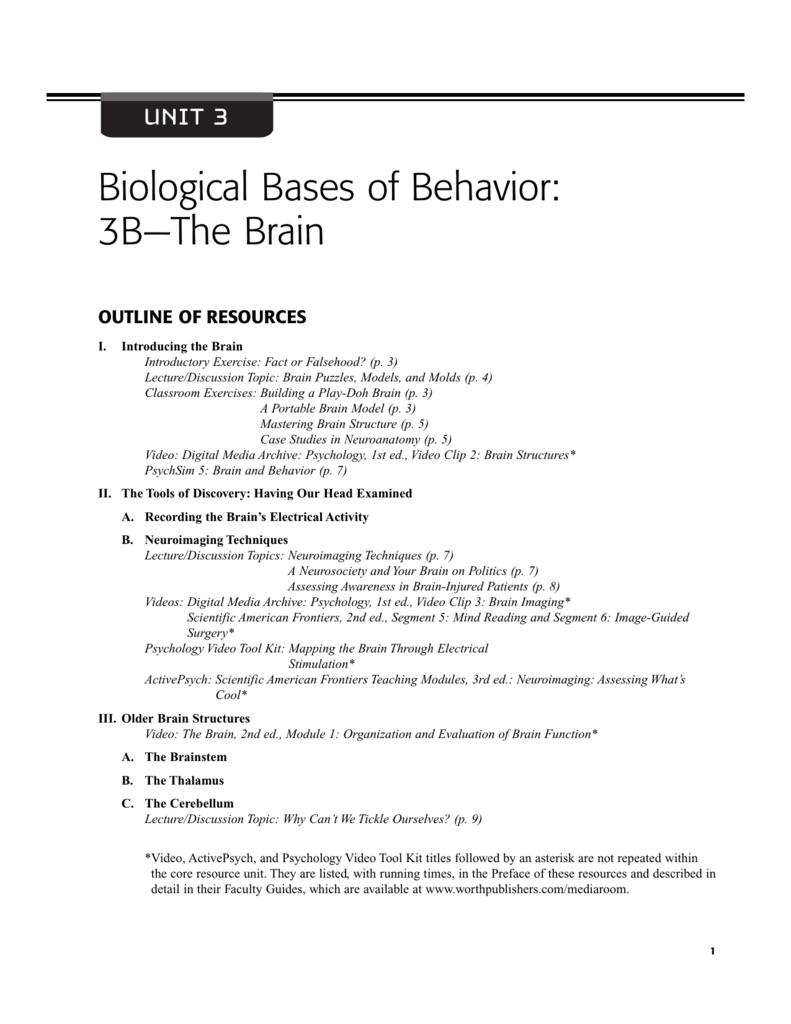 Worksheets Handout 3B1 3B2 3B3 3B4 and 3B5 – Psychsim 5 Worksheets