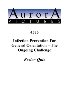 4575 Infection Prevention For General Orientation – The Ongoing