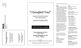 I Googled You! - Washington State Coalition of Mental Health