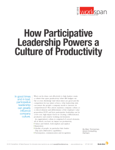 How Participative Leadership Powers a Culture of