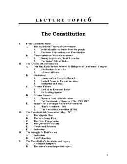 Outline 6 - The Constitution