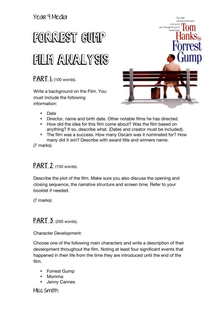Forrest Gump Film Analysis