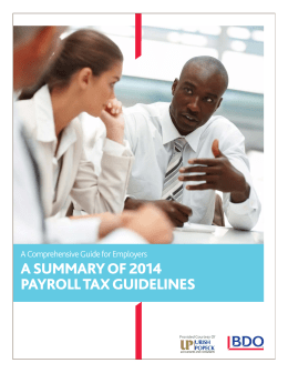 a summary of 2014 payroll tax guidelines