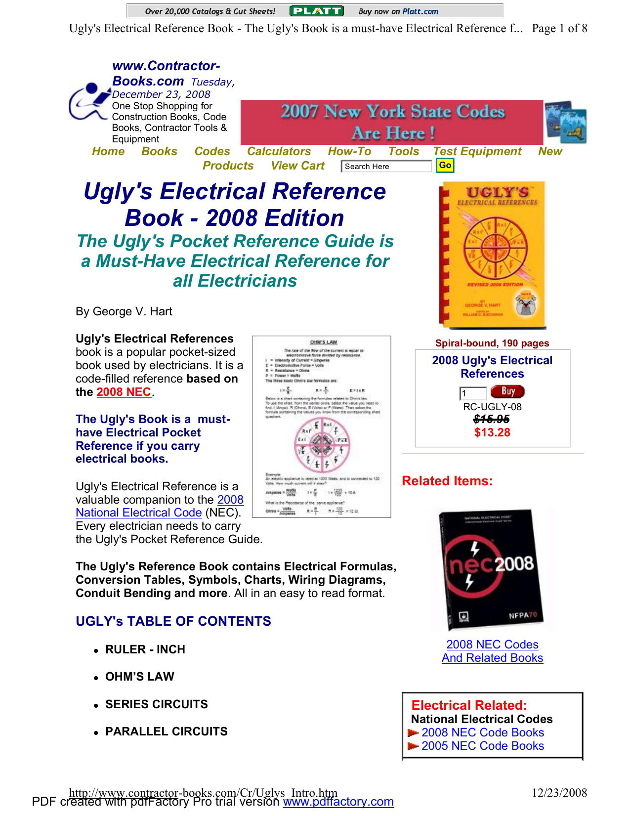 Ugly Residential Wiring Pdf Not Lossing Diagram Book S Electrical Reference 2008 Edition Rh Studylib Net Do It Yourself Diagrams