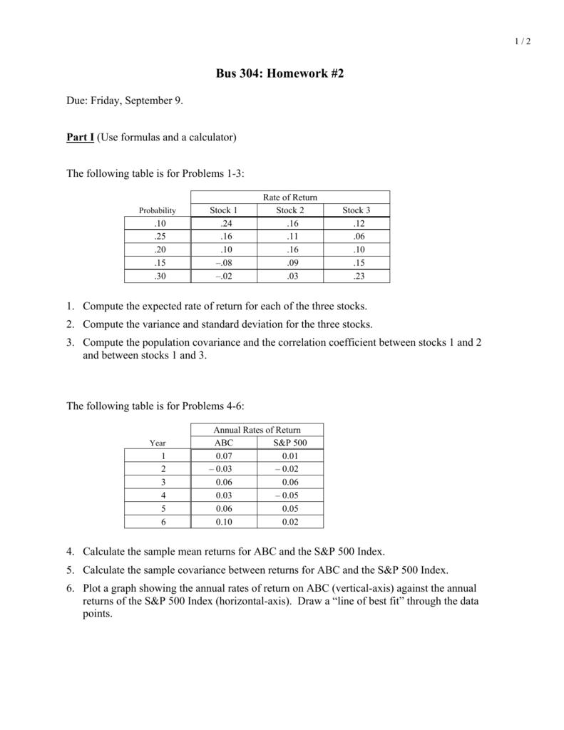 Bus 304: Homework #2