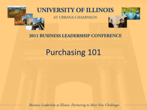 Purchasing 101 - University of Illinois Conferences