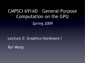 Graphics Hardware 1