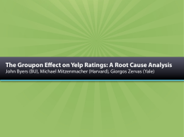 The Groupon Effect on Yelp Ratings: A Root Cause Analysis