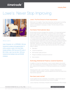 Lowe's: Never Stop Improving