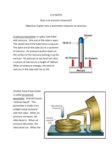 11.6 NOTES How is air pressure measured?