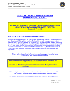 industry operations investigator informational packet