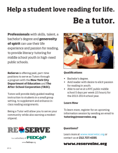 Be a tutor. - Brooklyn Community Board 14