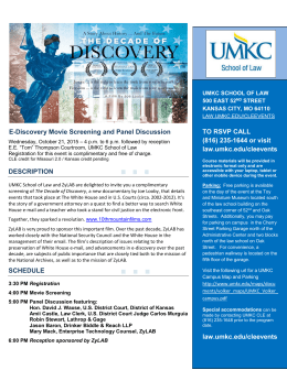TO RSVP CALL (816) 235-1644 or visit law.umkc.edu/cleevents law