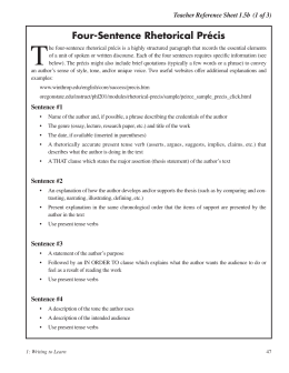 Precis Writing Tips and Examples - PDF