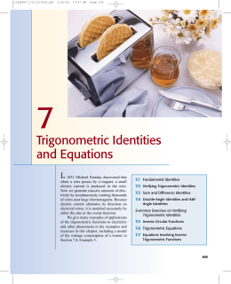 Trigonometric Identities and Equations