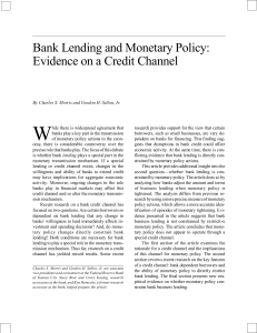 Bank Lending and Monetary Policy: Evidence on a Credit Channel