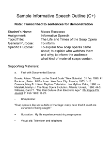 Sample Informative Speech Outline (C+)