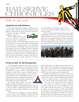 "Cargill Grows with Railserve 2012 ""Crude by Rail"