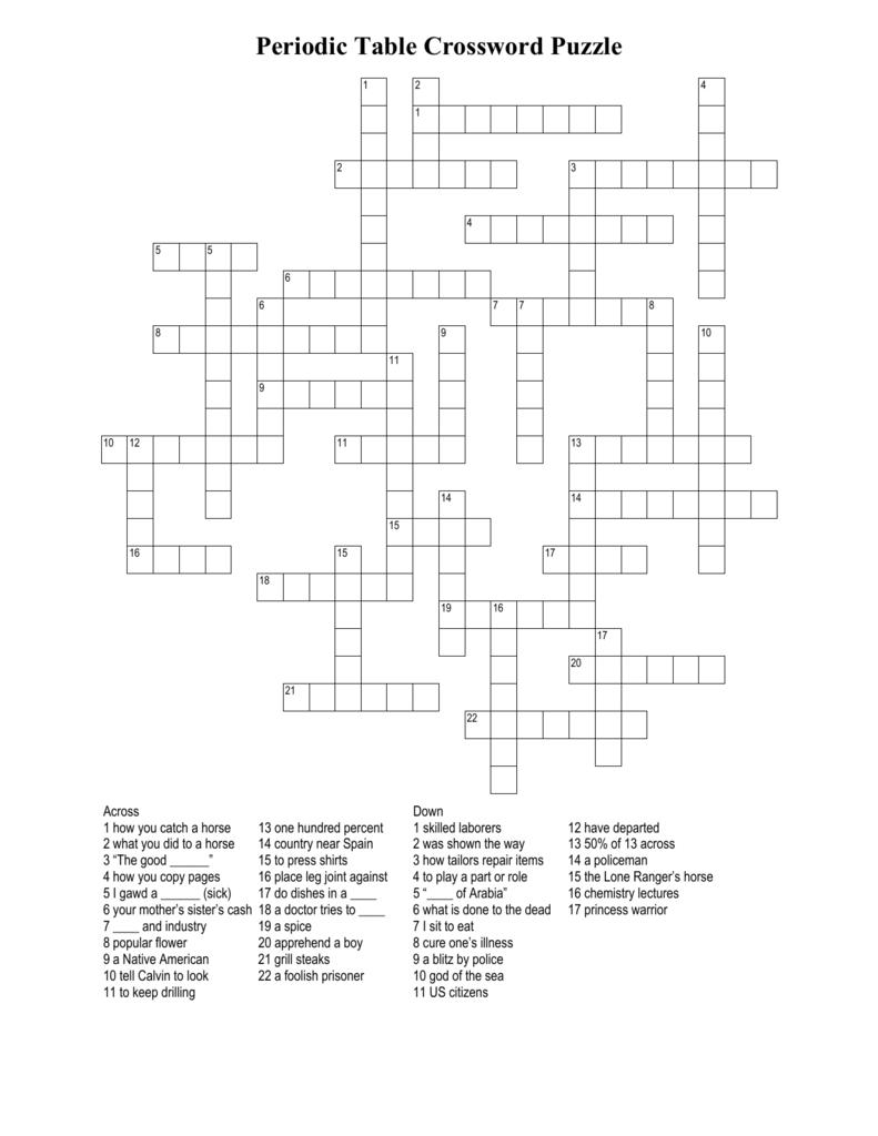 Periodic table crossword puzzle 0082737171 090c1fb4a5b687f664329374609c4da1g urtaz Gallery