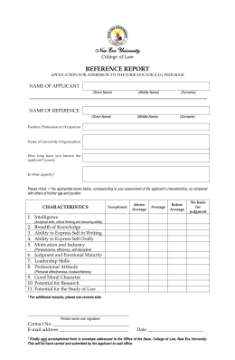 Reference Report Template