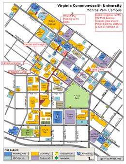 Lamar University Campus Map. Campus Location Map With Lamar ...
