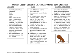 Of mice and men themes essay