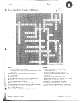 Bacteria reproduce asexually by means of crossword