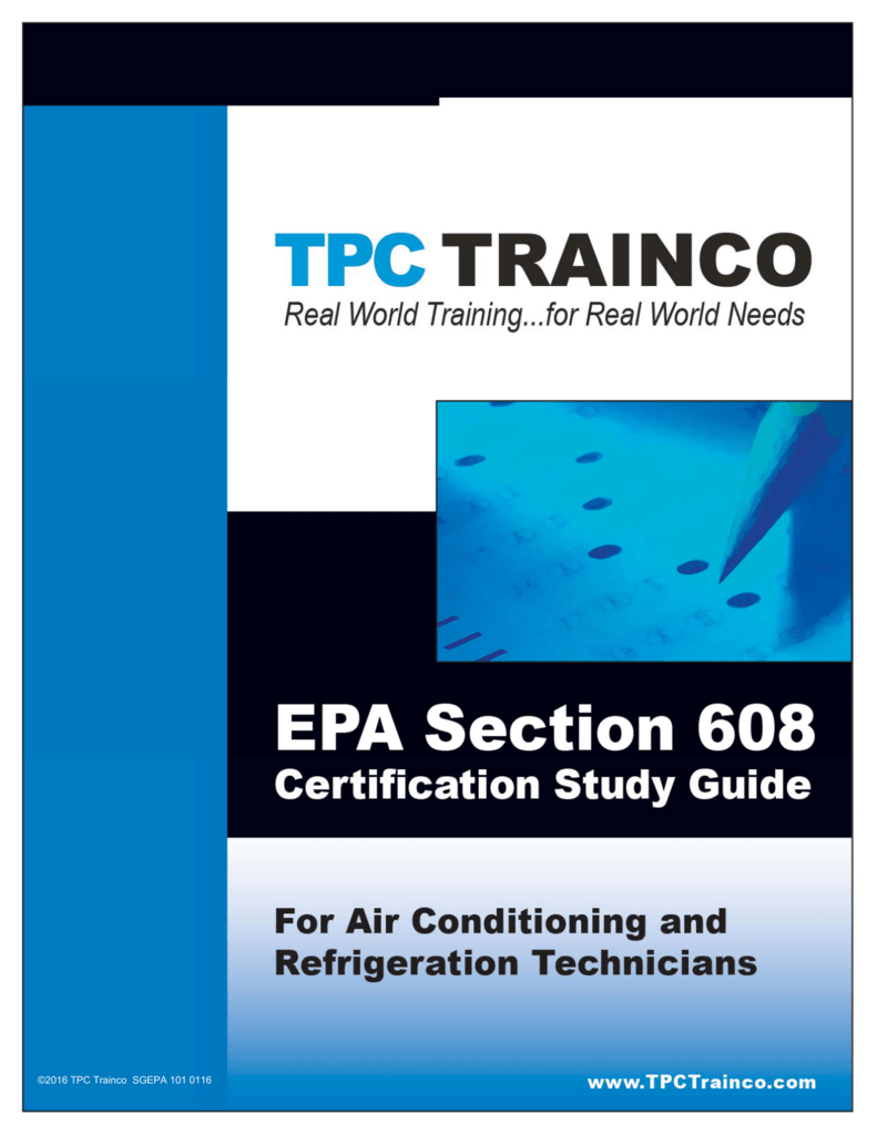 Your Free Epa 608 Study Guide