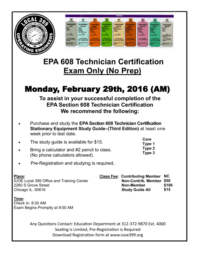 Epa 608 Technician Certification