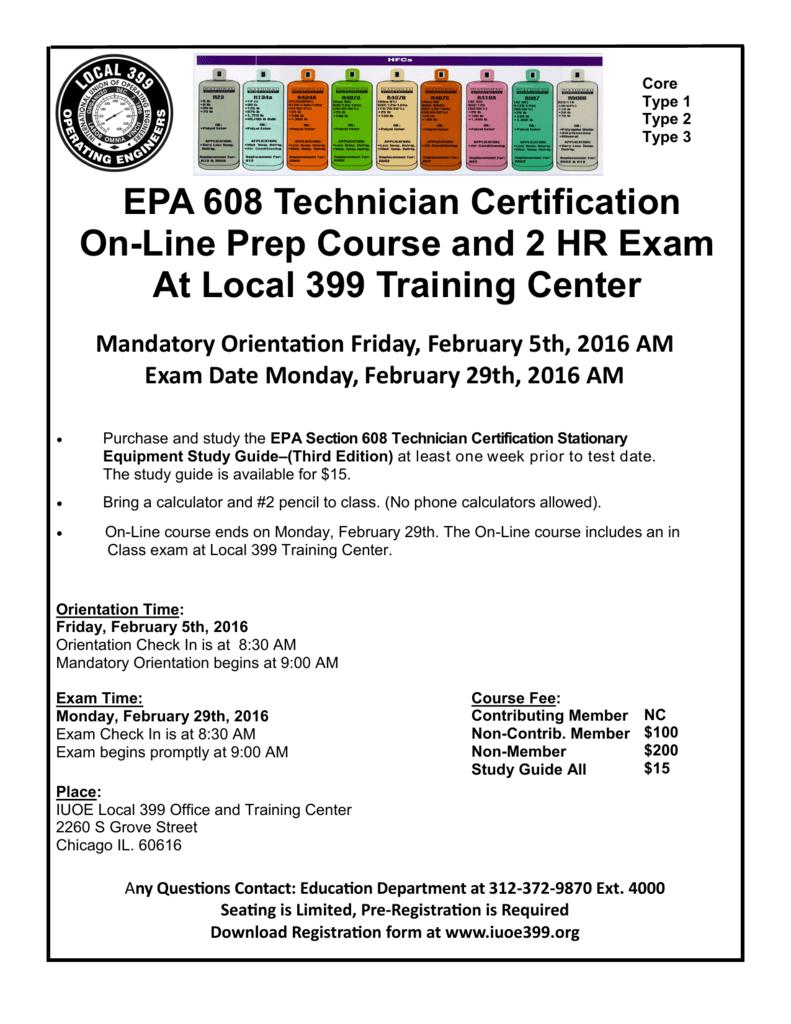 Epa 608 Technician Certification