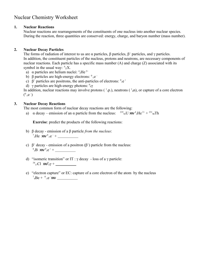 Worksheets Nuclear Chemistry Worksheet nuclear chemistry worksheet 008274723 1 959e8324be249f8964948de66f961ebb png