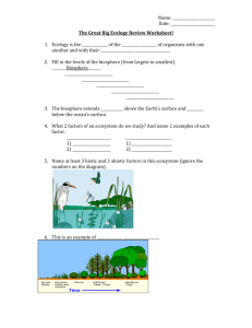 The Great Big Ecology Review Worksheet!