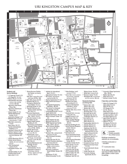 URI KINGSTON CAMPUS MAP & KEY