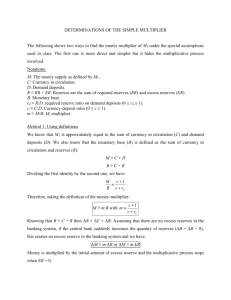 DETERMINATIONS OF THE SIMPLE MULTIPLIER The following